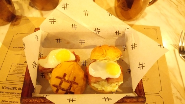 Bacon and Egg sliders